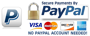 Pay with Paypal, no paypal account needed!